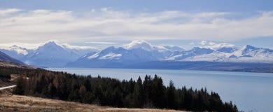 Lac Pukaki, île du sud, Nouvelle-Zélande Images stock