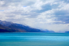 Lac Pukaki, Nouvelle Zélande Photos stock