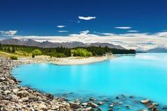 Lac Pukaki, Nouvelle Zélande Photographie stock libre de droits