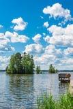 Lac Pyhajarvi en Finlande Images stock