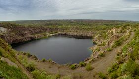 Lac radon Carrière près de la ville de Pervomaisk l'ukraine Image libre de droits