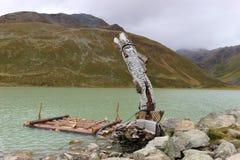 Lac Rifflsee dans le Pitztal, Autriche, l'Europe mountain photographie stock libre de droits