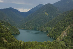 Lac Ritsa. Abhasia Images libres de droits