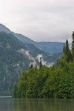 Lac Ritsa. Abhazia Photo stock