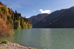 Lac Ritsa abkhazia Images libres de droits