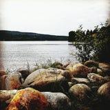 Lac, rivière Image stock