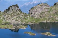 Lac Robert Rocks. Lac Robert near Chamrousse ski resort during summer Royalty Free Stock Photos