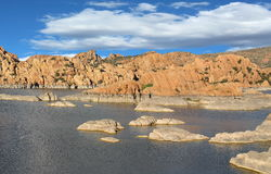 Lac rocheux Photo stock
