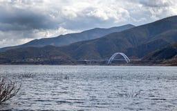 Lac Roosevelt en jour orageux de l'Arizona Photo libre de droits