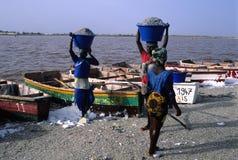 Lac rose. Le Sénégal Images libres de droits