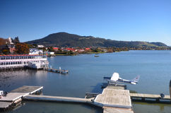 Lac Rotorua Quelque part en Nouvelle Zélande Photographie stock
