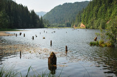 Lac rouge Photo stock