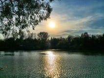 Lac Roumanie Bucov Photos libres de droits