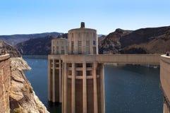 Lac (réservoir), hydromel et barrage de Hoover Images libres de droits
