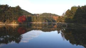 Lac RuQin en montagne Lu banque de vidéos