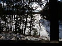 Lac Ruuhijarvi Photographie stock libre de droits