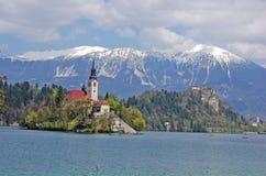 Lac saigné Photographie stock