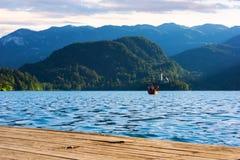 Lac saigné en été Images stock