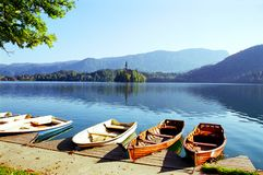 Lac saigné en Slovénie Photo libre de droits