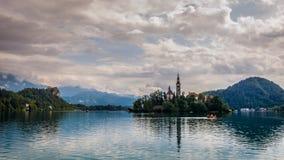 Lac saigné, Slovénie Photo stock
