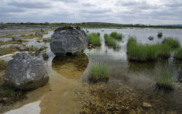 Lac saisonnier ou Turlough Photographie stock libre de droits