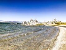 Lac salin peu profond naturel soda images libres de droits