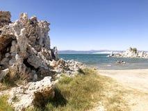 Lac salin soda dans le comté de Mono la Californie photographie stock
