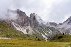 Lac Santa Caterina ou lac Auronzo dans la province de Bellune, Italie images stock