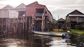 Lac sap de Tonle photo stock