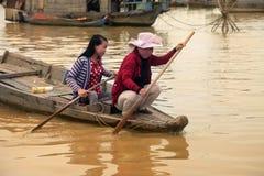 Lac sap de Tonle Image libre de droits