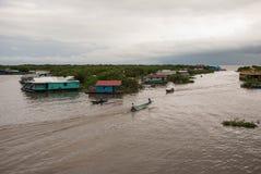 Lac sap de Tonle Photos libres de droits