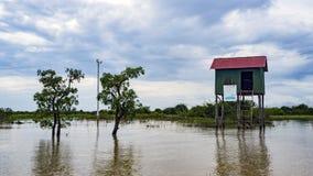 Lac sap de Tonle, village photos libres de droits