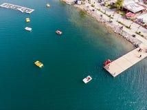 Lac Sapanca Sakarya/en Turquie/pédalo Photographie stock libre de droits