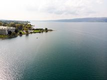 Lac Sapanca Sakarya/en Turquie/pédalo Photographie stock