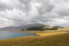 Lac Sayram Photographie stock libre de droits