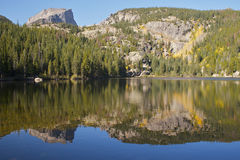 Lac scénique mountain dans l'automne Image stock