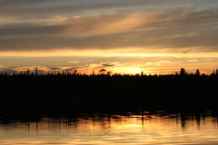 Lac Seul at sunset Stock Images