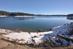Lac shaver Photographie stock