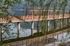 Lac Shengzhong dans la province de Sichuan, porcelaine Images stock