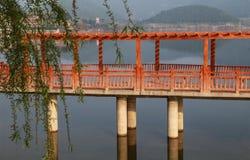 Lac Shengzhong dans la province de Sichuan, porcelaine Photo stock