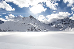 Lac Silvretta Image libre de droits
