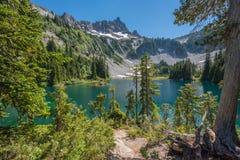 Lac snow de terrain de camping backcountry photos stock