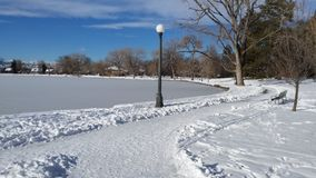 Lac snowy Image stock