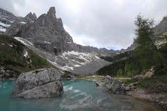 Lac Sorapiss Photos stock