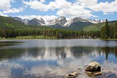 Lac Sprague dans le Colorado Photographie stock libre de droits
