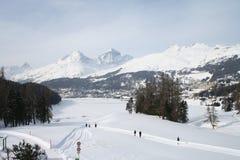 Lac st Moritz en hiver Images stock