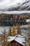 Lac St Moritz pendant l'automne Photographie stock