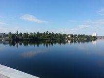 Lac Suède du nord Photos stock