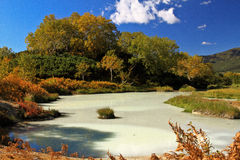 Lac sulphur. Photos stock