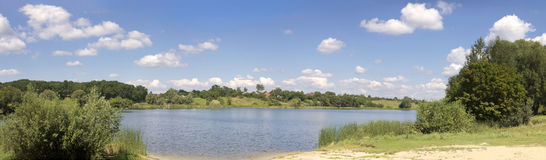 Lac summer - panorama image stock